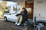 Fully wheelchair accessible motorhome